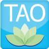 Letters TAO above a lotus flower.