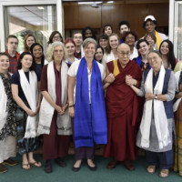 Students studying abroad in India this summer had an opportunity to meet with His Holiness the Dalai Lama