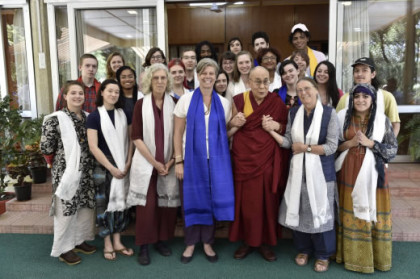 Students studying abroad in Inida this summer had an opportunity to meet with His Holiness the Dalai Lama