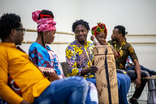 Benin International Music on campus for an artistic residency as a part of (T)HERE: Global Festival