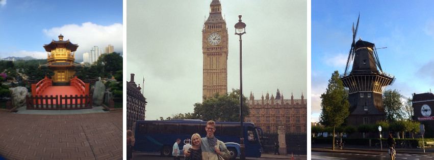 Photos taken by Purchase students on exchange in Hong Kong, London, and Amsterdam