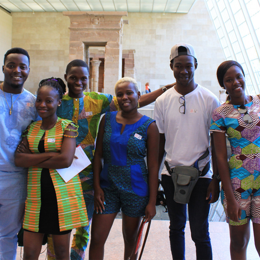 Transnational Film Program Students visiting the Metropolitan Museum of Art