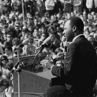 Martin Luther King, Jr., speaking against the Vietnam War, St. Paul Campus, University of Minnesota