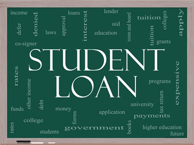 Student Loan in White Font