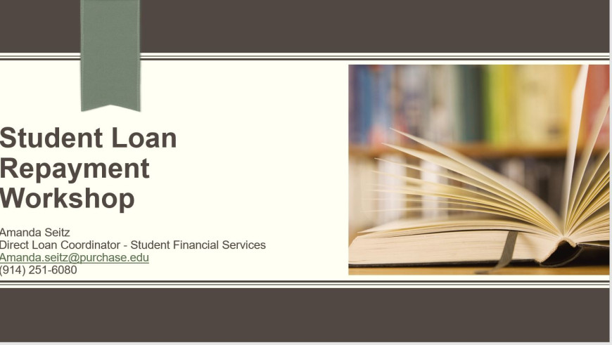 Loan repayment workshop cover page