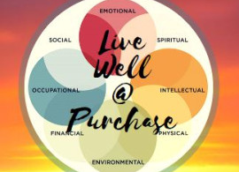 LiveWell at Purchase Series. The types of Wellness are Emotional, Spiritual, Intellectual, Physical, Environmental, Financ...