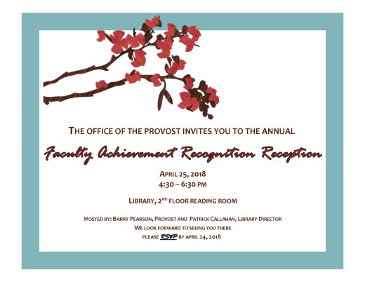 Invitation flyer with details, blue border with cherry blossom branch
