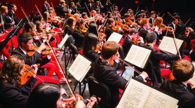 National Youth Orchestra of United States of America starting their 2014 residency at SUNY Purchase College, 7/19/14. Phot...