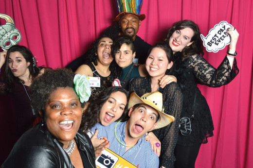 Alumni Pose in the Photo Booth at the 2016 H&P Ball