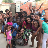 Purchase students volunteer at youth center in Cartagena, Colombia as part of a recent spring break service learning ...
