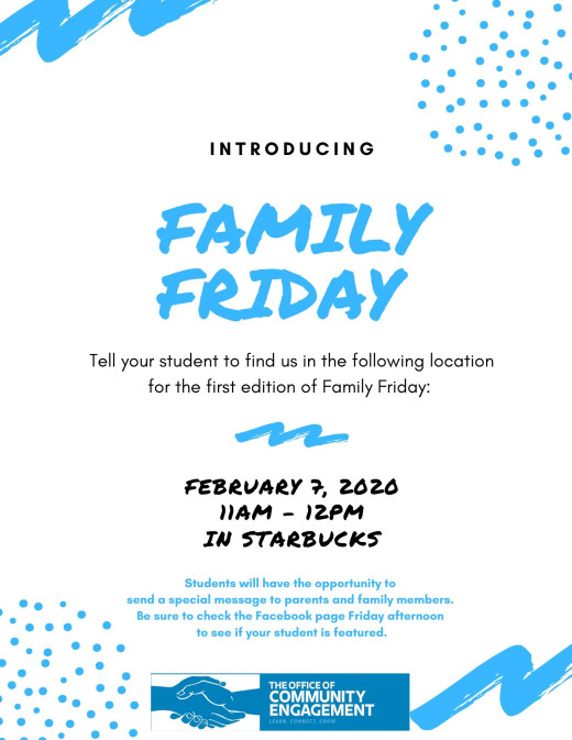 Family Friday Flyer