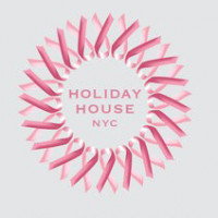 Holiday House NYC Logo. A pink circle of ribbons.