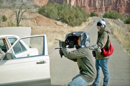 Students film on location
