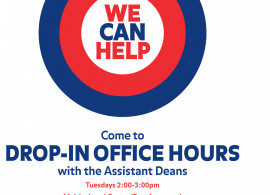 Flyer for Drop-In Office Hours