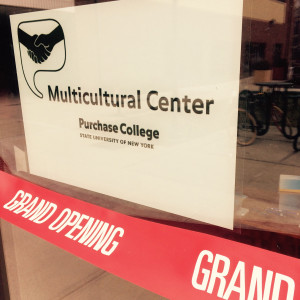 Grand Opening Sign at Multicultural Center.