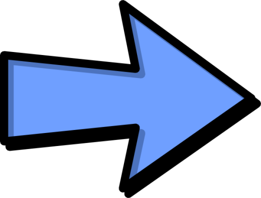 blue arrow with black outline