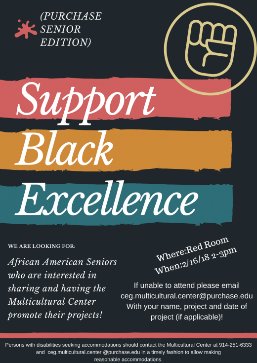 Support Black Excellence Purchase senior edition flyer