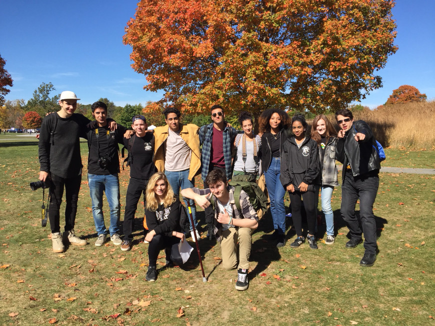 Foundation students visiting Storm King Art Center