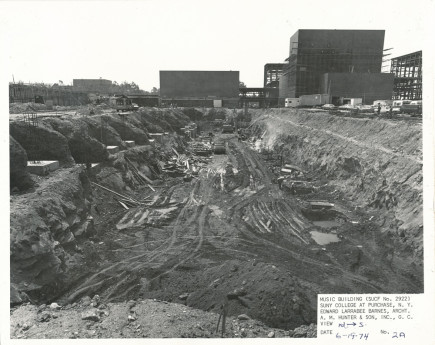 Construction of the Music Building