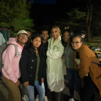 J.Lo smiling with EOP Students