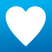 Purchase Cares (White heart over light blue background)