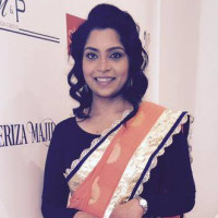 Jaya Mohanan '99 at the Stars of STEM charity fashion show