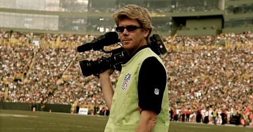 Dennis Warsen '90 as a videographer for the NFL's San Francisco 49ers