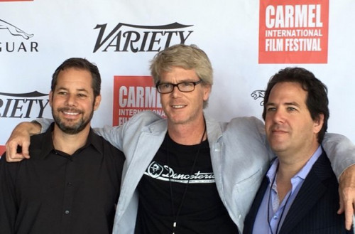 Dennis Warsen '90 (center) with Flatball producers David Blau (l) and Eric Kaye (r)