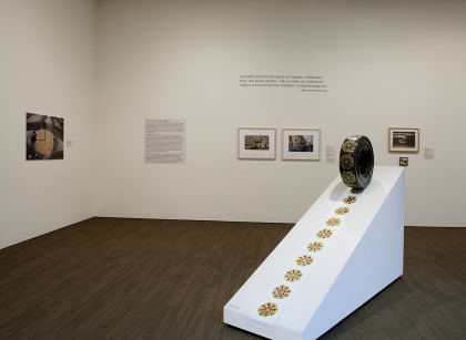"Installation images of the ""Destination: Latin America"" exhibition at the Neuberger Museum of..."