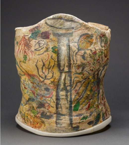 Plaster corset, painted and decorated by Frida Kahlo, Museo Frida Kahlo. © Diego Rivera and Frida Kahlo Archives, Banco d...