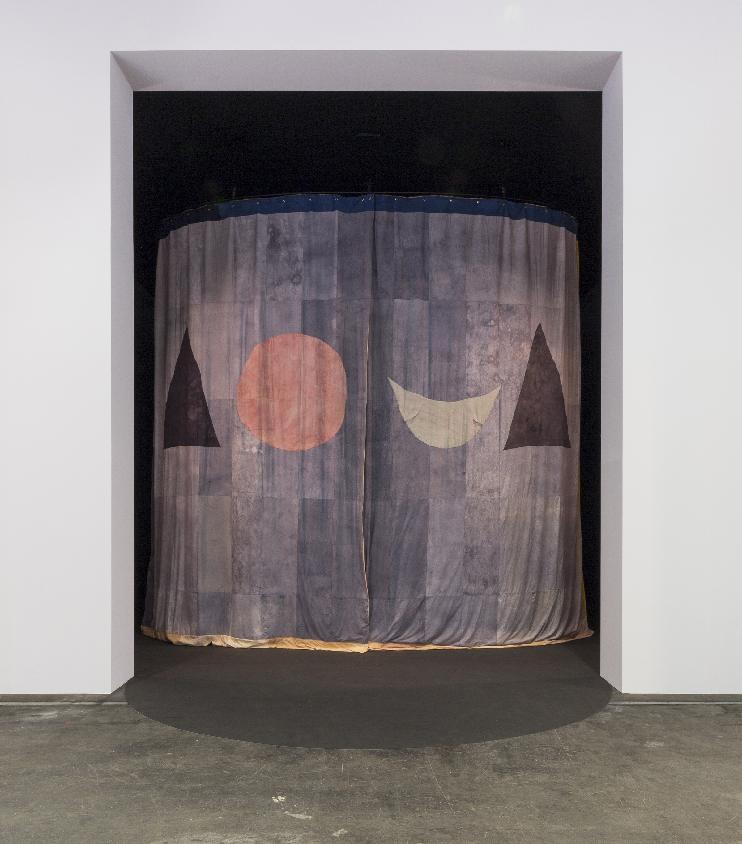 Yto Barrada, Tree Identification for Beginners Curtain, 2017, cotton, silk, linen, natural dyes, 16' ...