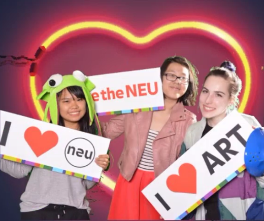 "Purchase Students ""Love the NEU"" at the 2018 Spring Opening (featuring the NEON exhibition)"