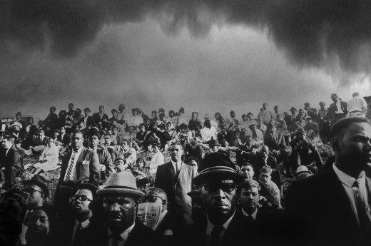 John Shearer, Funeral of Martin Luther King, 1968, Black & white photograph, 30 x 20 inches