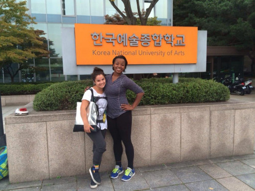 Emily and Maiya - Korea