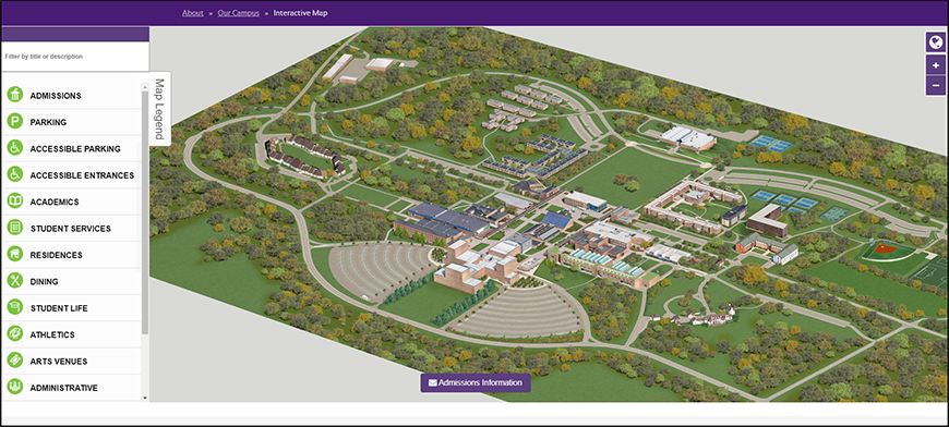 Interative Purchase College Campus Map