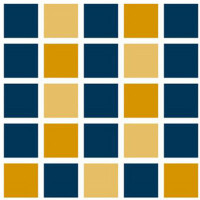Logo for Westchester Community College (block of 25 blue and yellow squares)