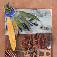 Collage by students in the Printmaking in Benin class