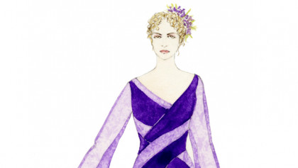 Sketch by Professor Anita Yavich for Dido in Les Troyens