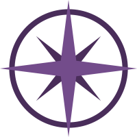 Purple compass