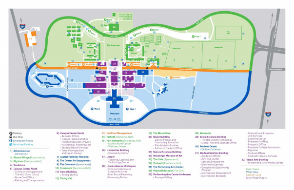 College Of New Jersey Campus Map.Travel And Transportation Admissions Purchase College