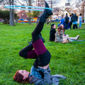 "Student ""hooping"" on the lawn at Culture Shock."