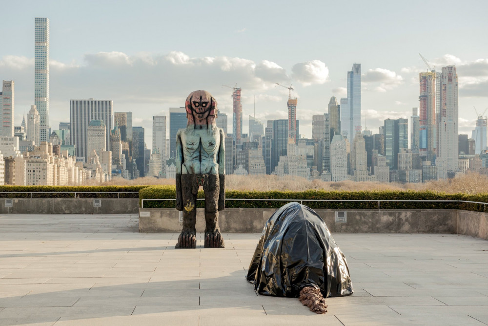 "Huma Bhaba ""We Come in Peace"" on the roof of the Metropolitan Museum of Art on view April 17–October 28, 2018."