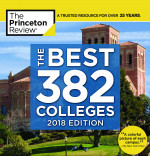 The Princeton Review Best 382 Colleges 2018 book cover