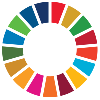 UN Sustainability Goals Logo (Color swatches in a circle)
