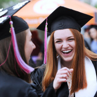 Purchase College Commencement at the Westchester Civic Center, White Plains, N.Y., Friday, May 18...