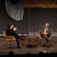 Neil Gaiman and Michael Chabon spoke as part of the Durst Distinguished Lecture Series.
