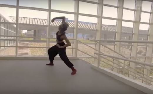 Dancer Jojo Boykins '18 featured on PBS' new  ALLARTS channel (dancing in the Dance Building lobby)