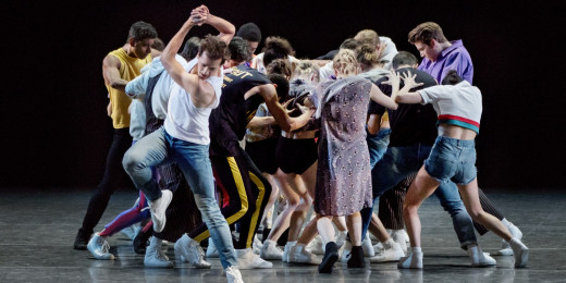 "Ballet by choreographer and soloist Justin Peck, ""The Times Are Racing,"""
