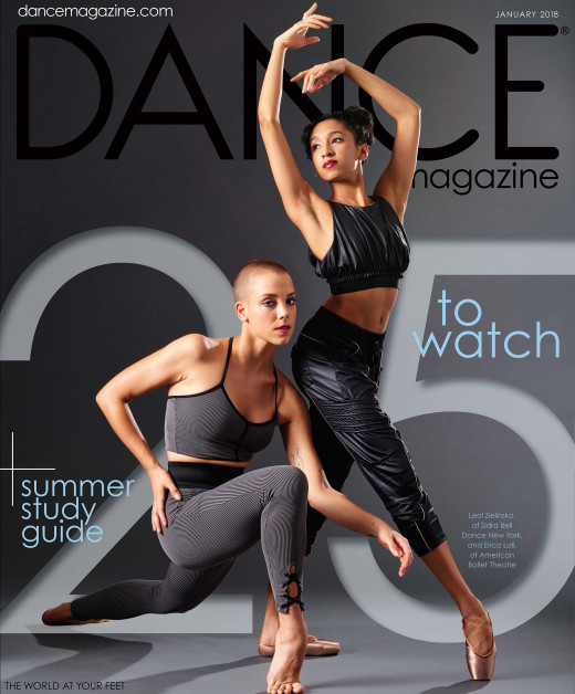 Cover of Dance Magazine January 2018 issue