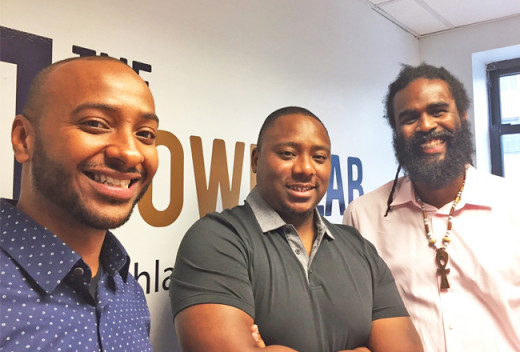 Ray Wilcox, LaMont OyeWale' Badru, and Anthony Bailey '01 (left to right) from The PowerLab.